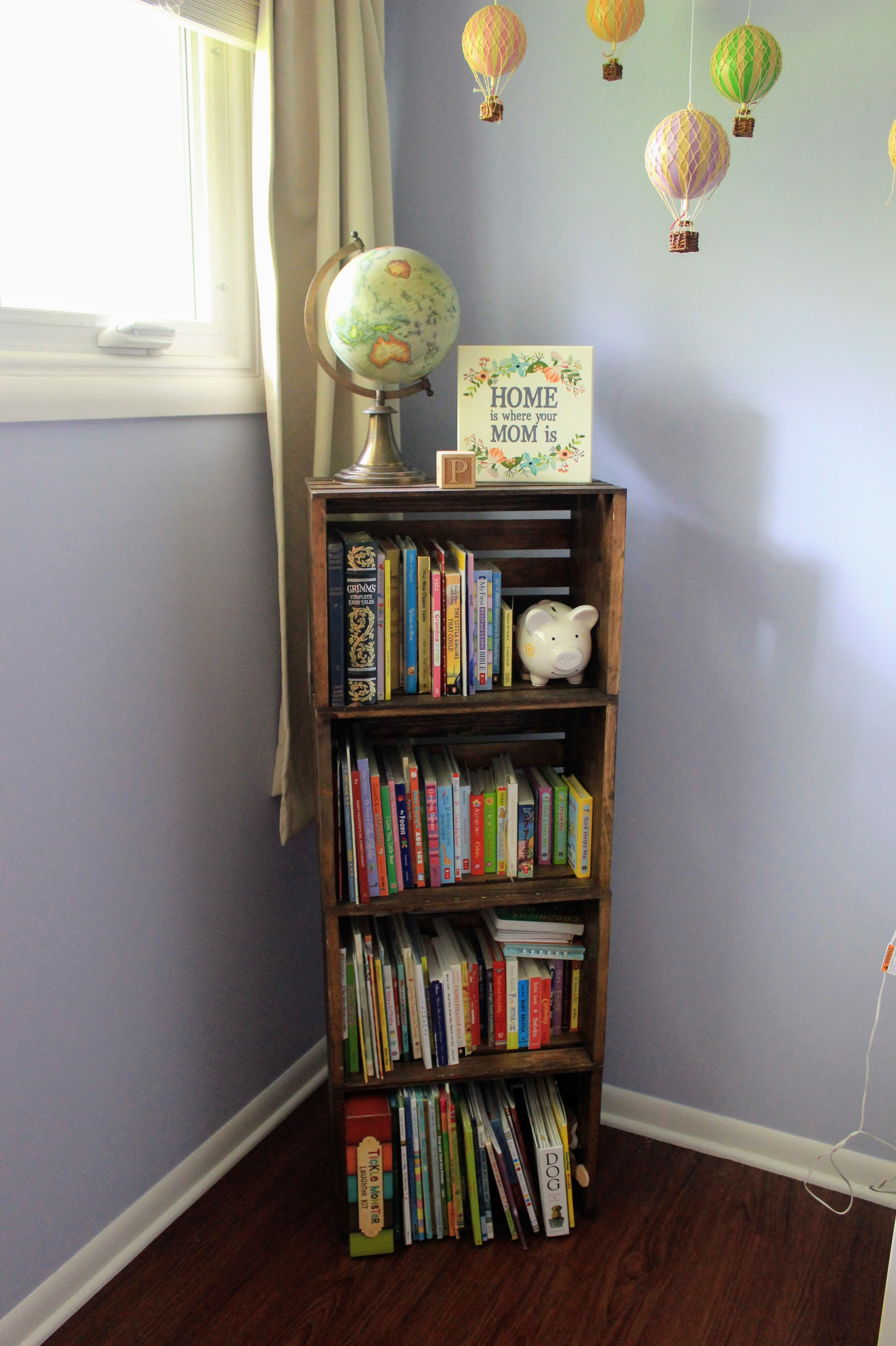 Diy Children S Crate Bookshelf Marina Makes